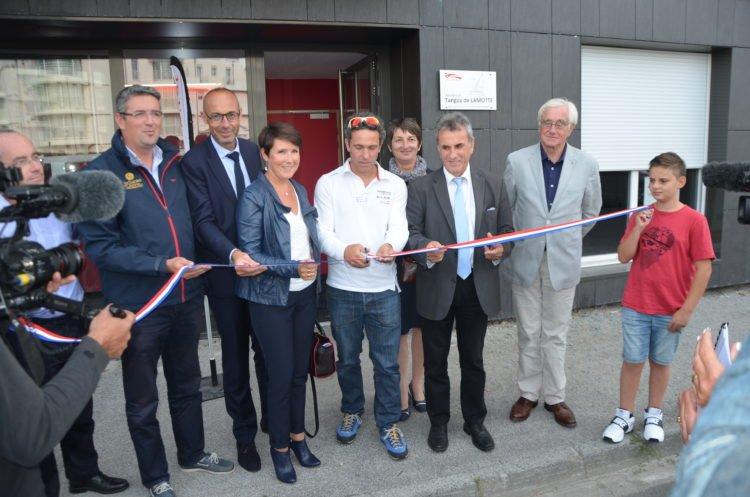 Inauguration de 30 appartements en accession à la propriété aux Sables d'Olonne avec Tanguy de Lamotte, skipper