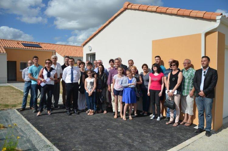 Remise de clés de la résidence Alain Bombard à Bellevigny par le bailleur social Vendée Habitat