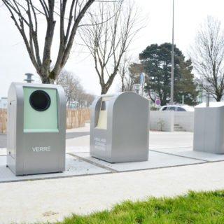 Aménagement des points de collecte des déchets par des colonnes enterrées