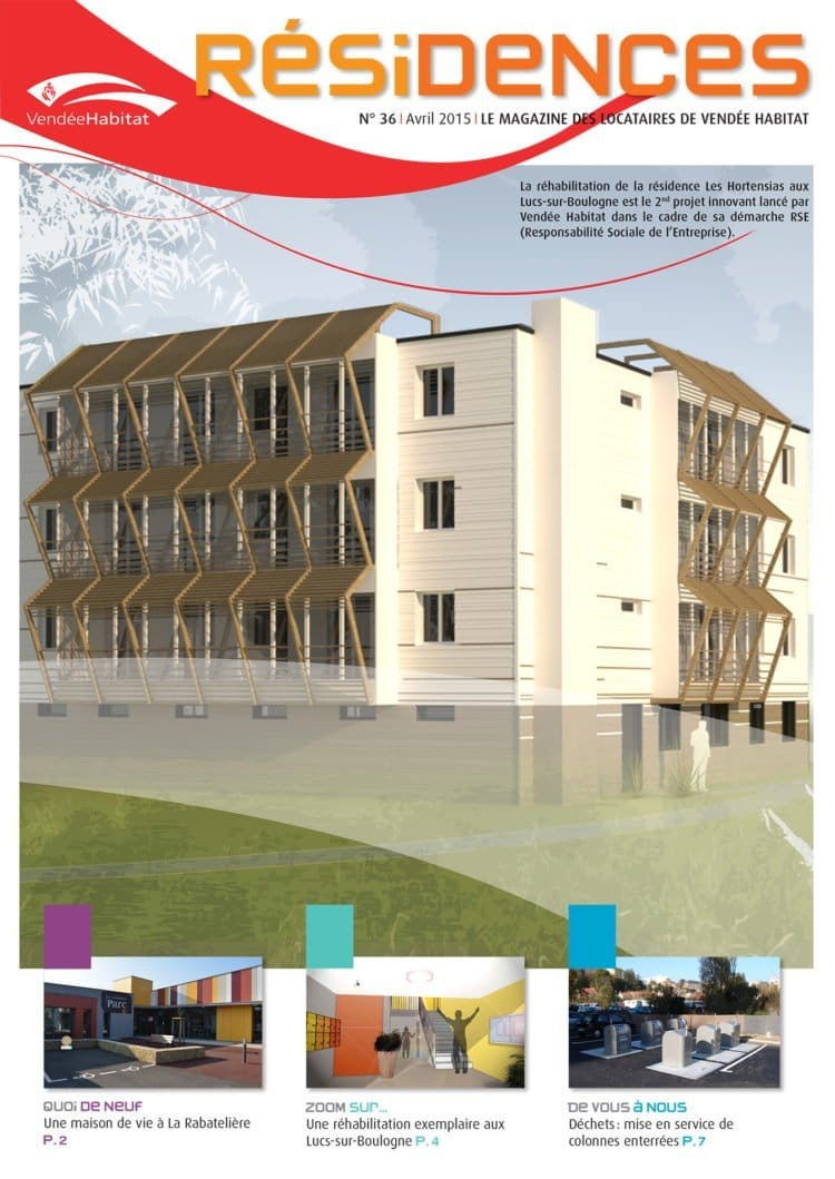 Le journal des locataire Résidences, un outiol d'information trimestriel