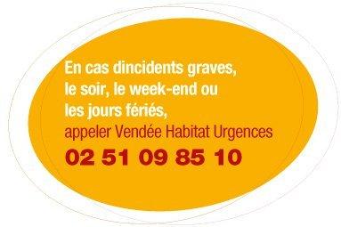 Vendée Habitat Urgences pour les incidents le soir, le xeek-end et les jours fériés
