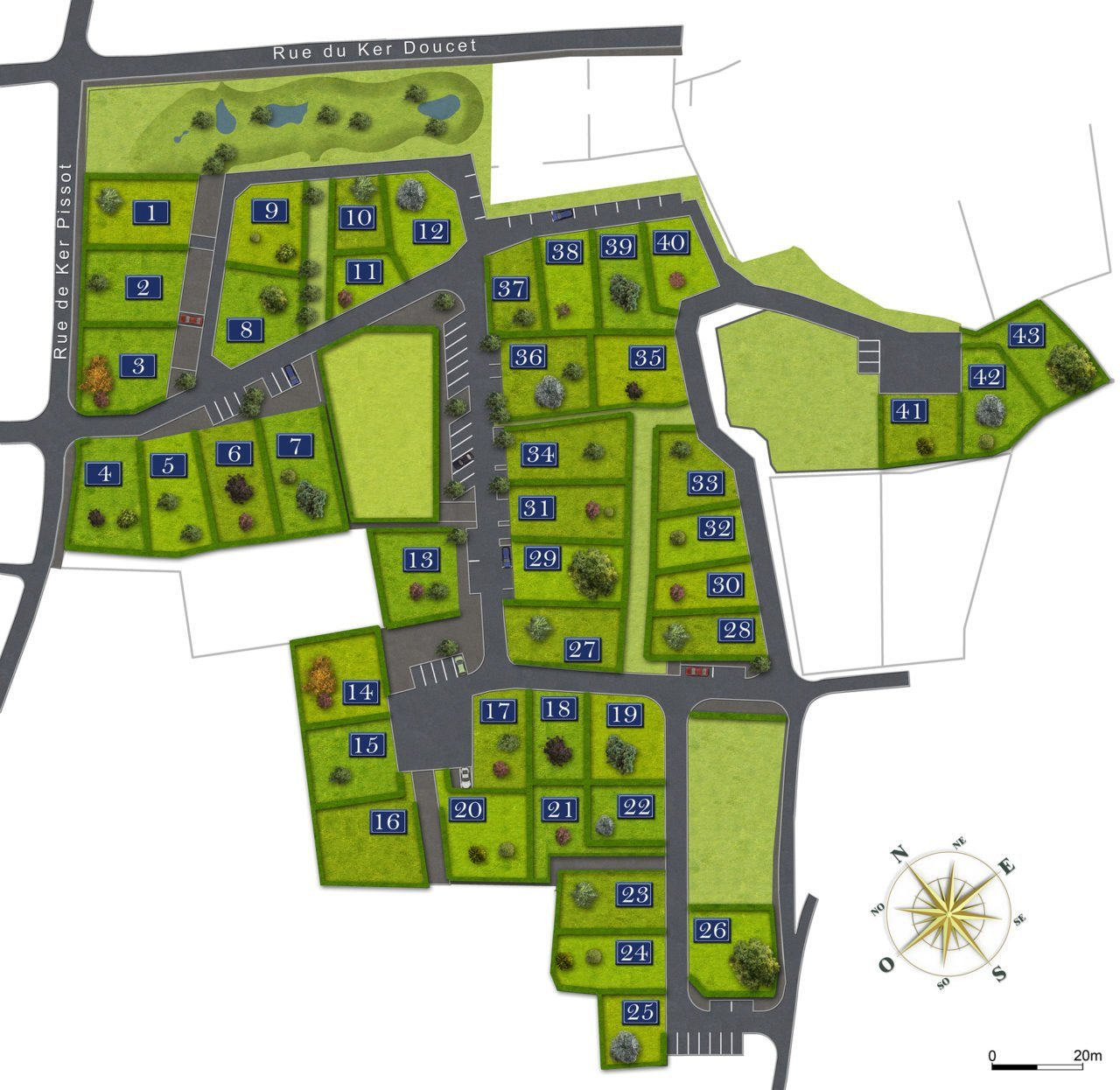 Ile d'Yeu - Lotissement Ker Pissot - terrains à bâtir