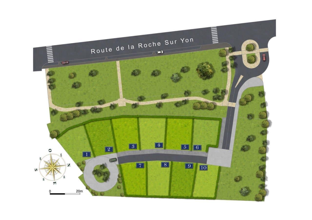 La Tranche-sur-Mer - Lotissement La Porte du Marais - terrains à bâtir