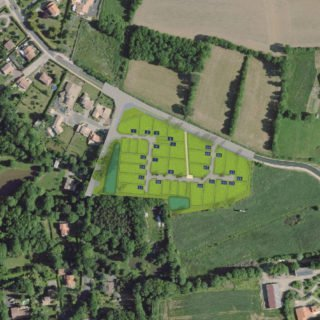 Landeronde - plan lotissement Rue du Sablat - terrains à bâtir