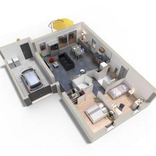 Catalogue psla - Maison Alya - T3-plan