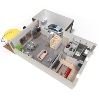 Catalogue psla - Maison Andromède - T4-plan