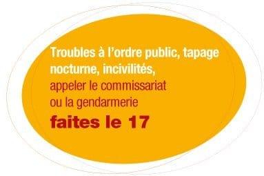 Tapage nocturne, incivilités, contacter la gendarmerie ou le commissariat