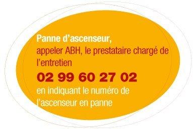 Contacter ABH en cas de panne de votre ascenseur