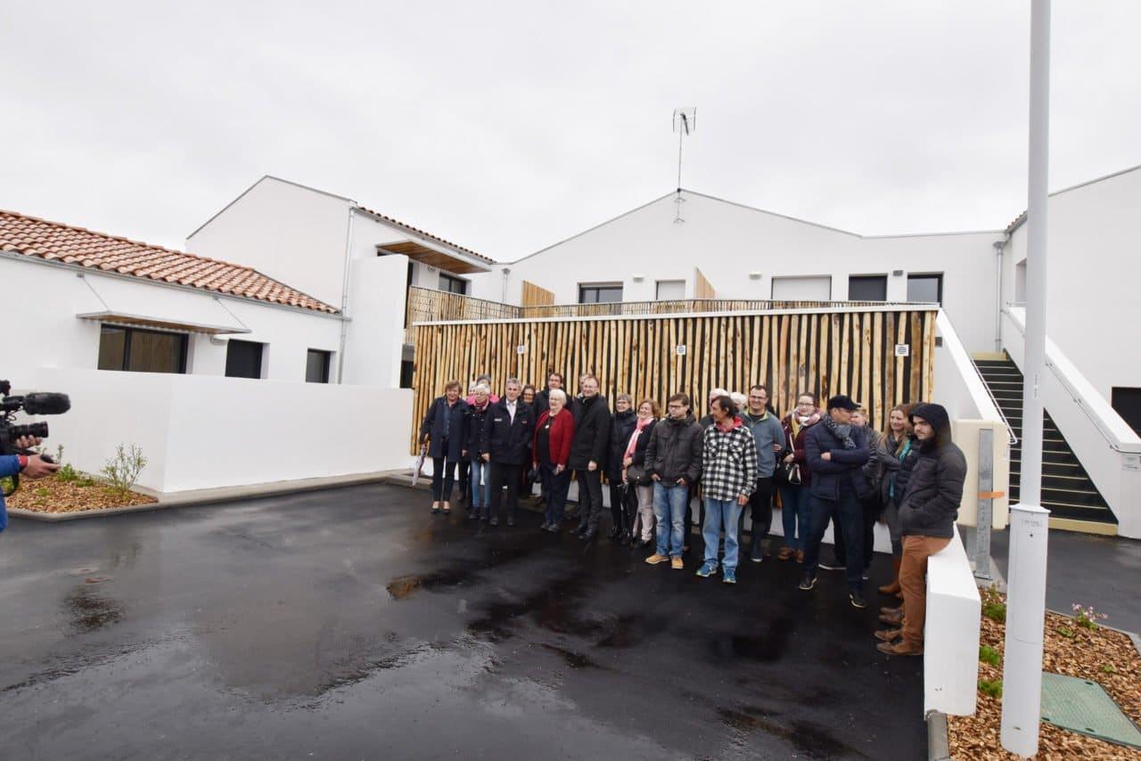 remise de clés des nouveaux logements à La Guérinière,