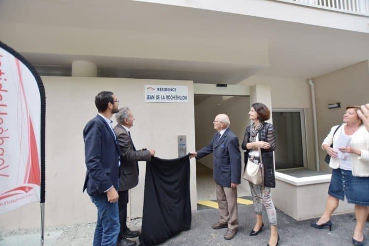 """Président honoaraire de Vendée Habitat (1976-2004), Jean de La Rochethulon a inauguré """"sa résidence"""", symbolisant proximité, densification et mixité"""