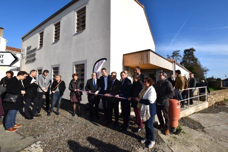 Inauguration de la Maison Départementale des solidarités et de à Moutiers-les-Mauxfaits