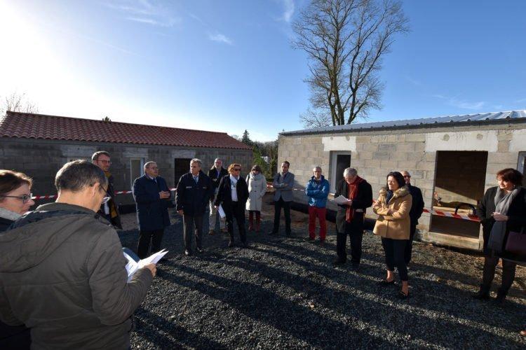 Visite de chantier de logements destinés au maintien à domicile à Moutiers-les-Mauxfaits
