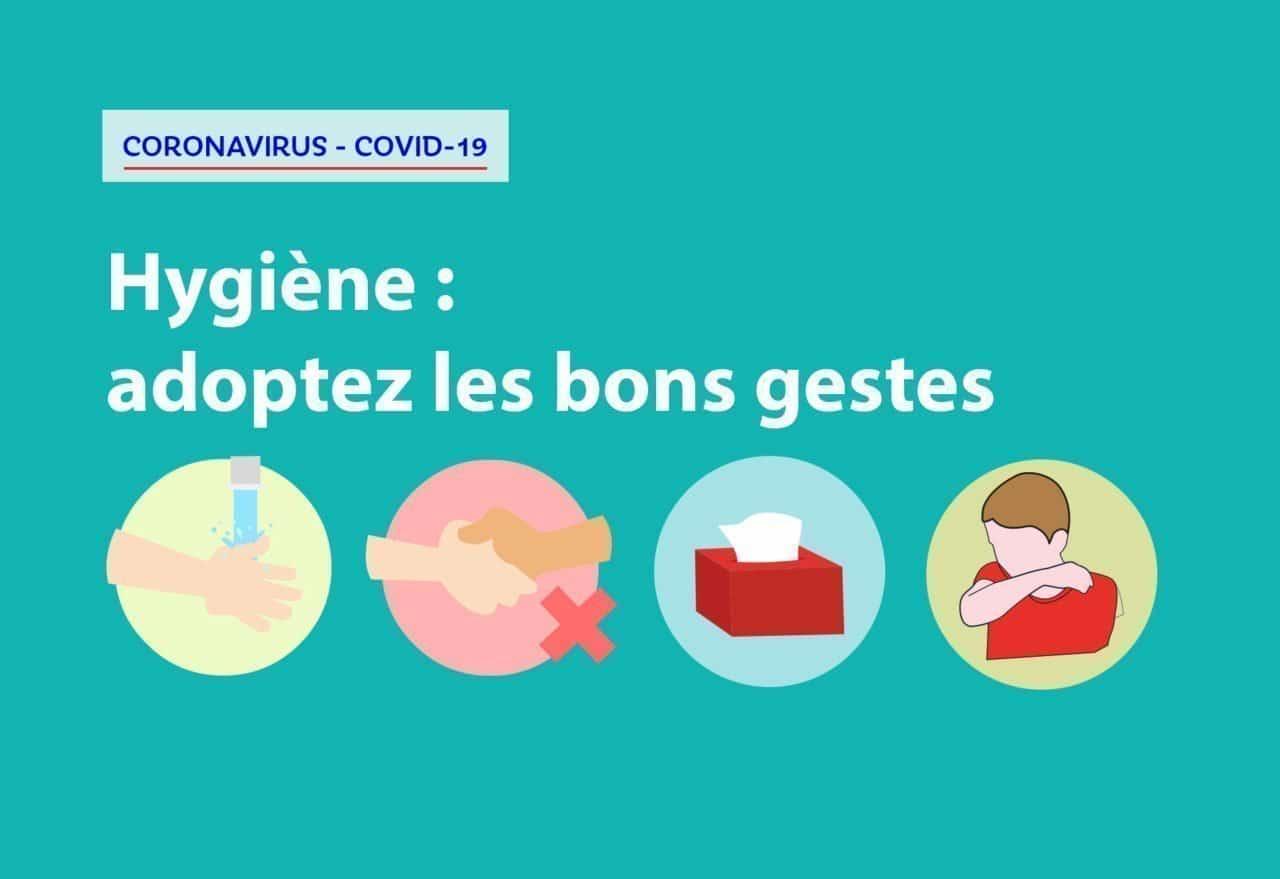 Covid-19 - Mesures d'hygiène et gestes barrièere