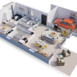 Construction de maison en Vendée - Modèle Topaze de Vendée Habitat