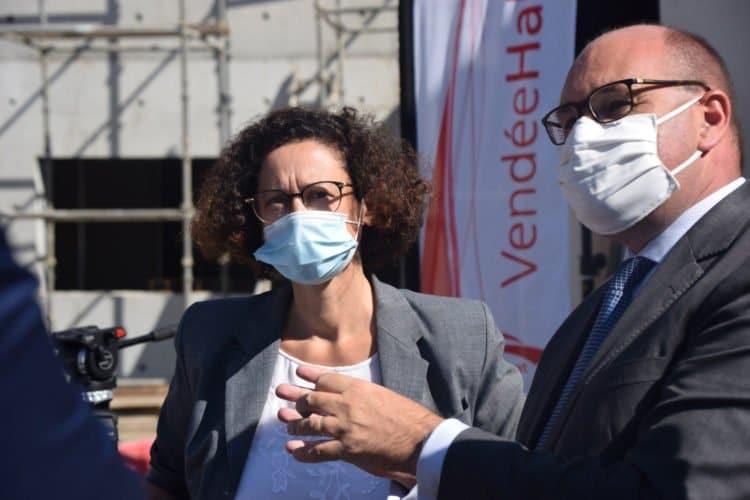 La ministre du logement Emmanuelle Wargon en visite à Vendée Habitat sur les Hauts de Montaigu