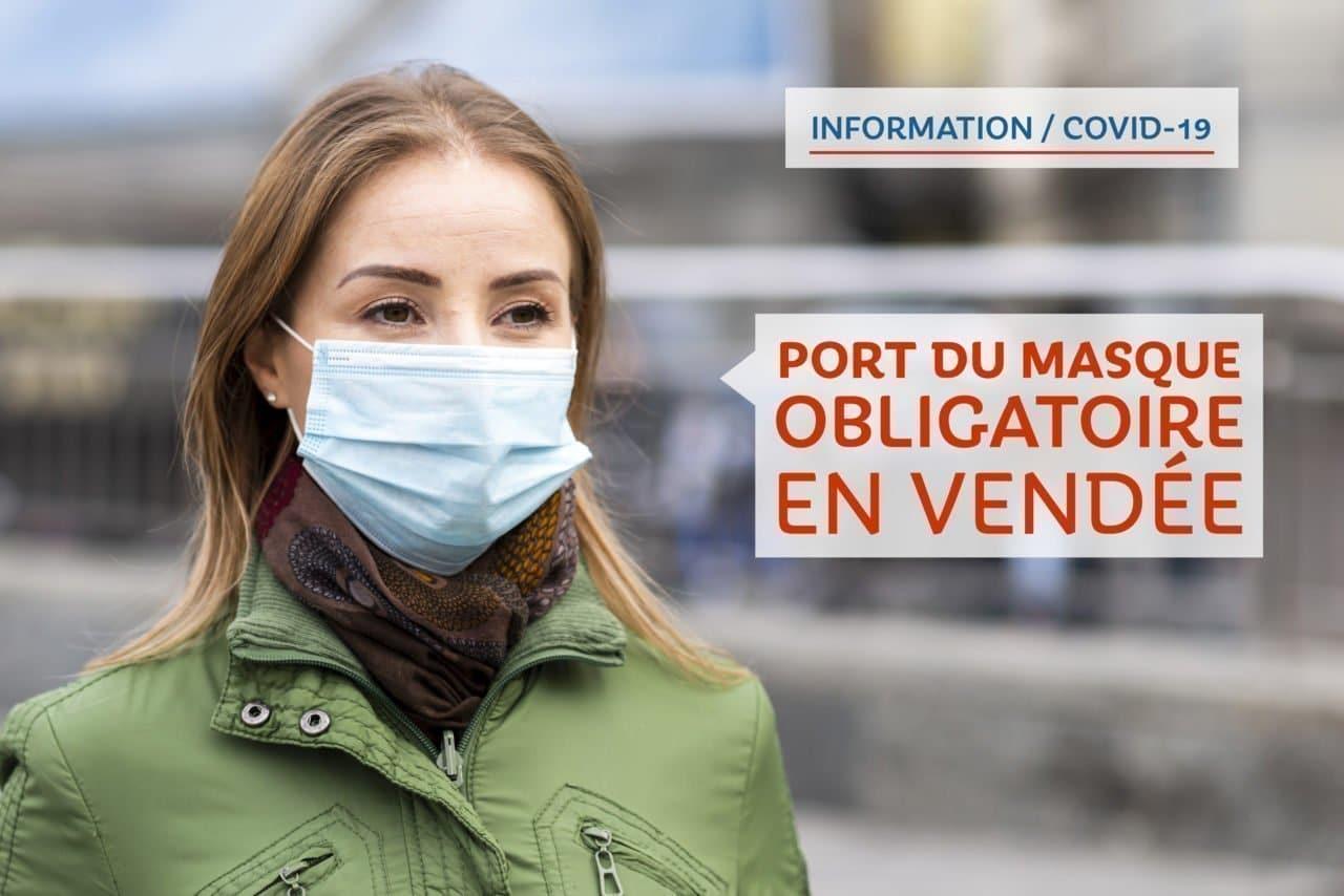 Covid-19 : Port du masque obligatoire en Vendée