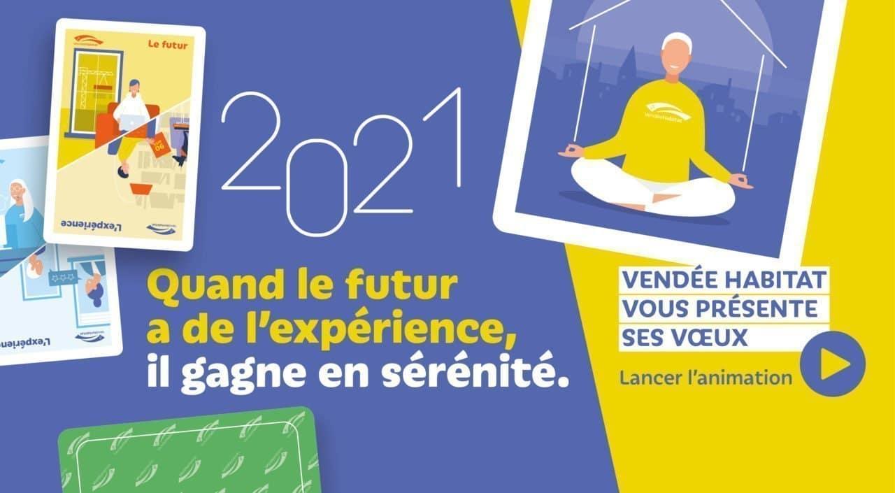Toute l'équipe de Vendée Habitat vous souhaite une excellente année 2021