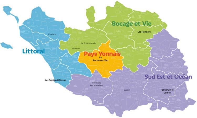 Nouvelle sectorisation des agences de Vendée Habitat