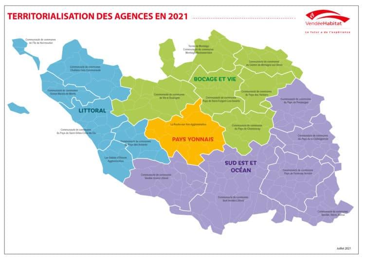 Carte des agences 2021